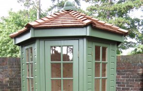 A small Wiveton Summerhouse with shiplap timber claddin